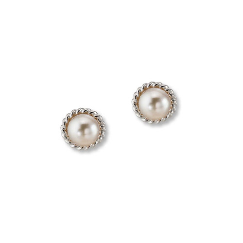 Awesome Sterling Silver Enduring Style Grace Freshwater Pearl Earrings