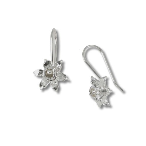 Sterling Silver Blossom Daffodil Earring