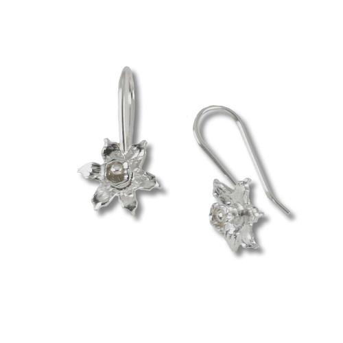 Sterling Silver Blossom Daffodil Earring