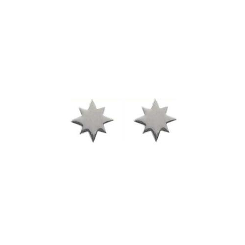 Sterling Silver North Star Earrings