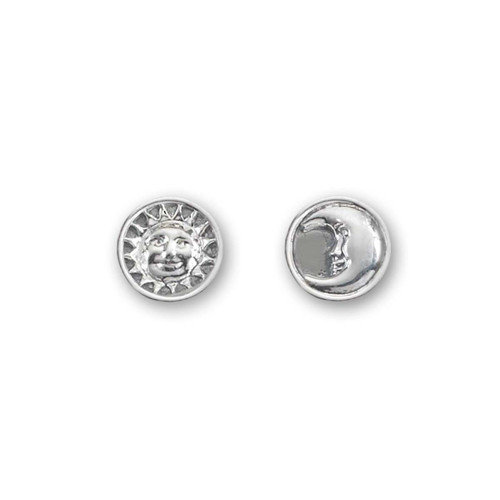 Sterling Silver Sun & Moon Classic Earrings