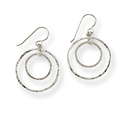 Sterling Silver Inner Circle Earrings
