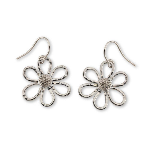 Sterling Silver Petite Daisy Handcrafted Earrings