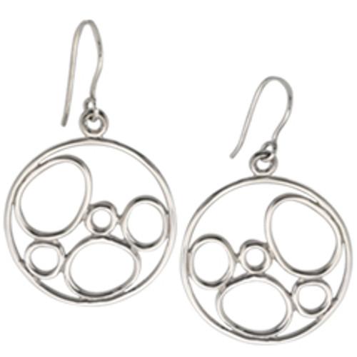 Sterling Silver Stylish Bubbles Earrings