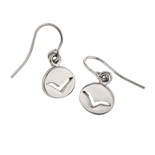 Sterling Silver Seagull spiritual Messengers Earrings
