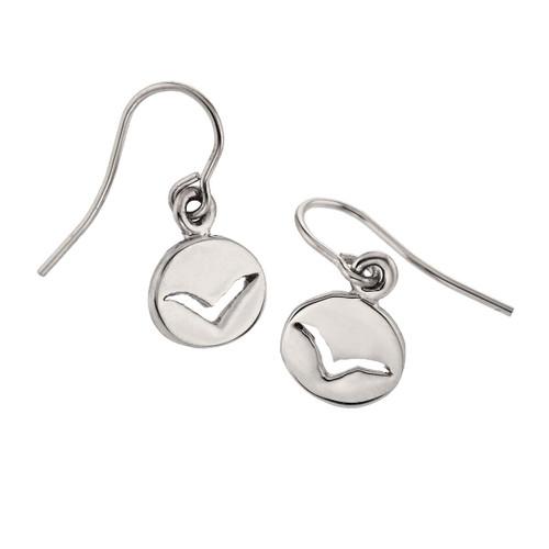 Sterling Silver Seagull spiritual Messengers Earrings