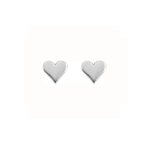 Handmade Sterling Silver Small Heart Earrings