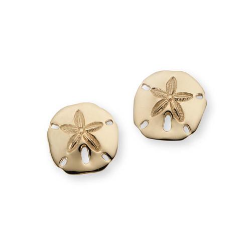"14kt Sand Dollar Earrings 5/8"" Post earrings"