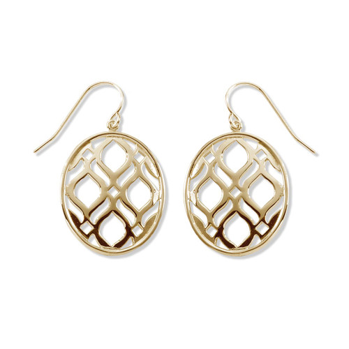 14kt Gold Persian Lace Earrings for Exotic Look