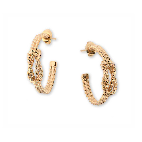 14kt Square Nautical Knot Earrings