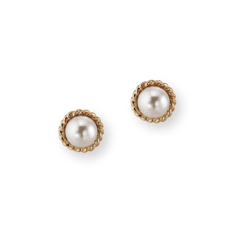 14kt Enduring Grace 6mm Freshwater Pearl Earrings