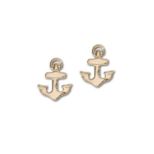 14kt Petite Anchor Earrings Symbolize Hop & strength