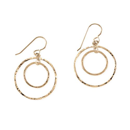 14kt Inner Gold Circle Earrings