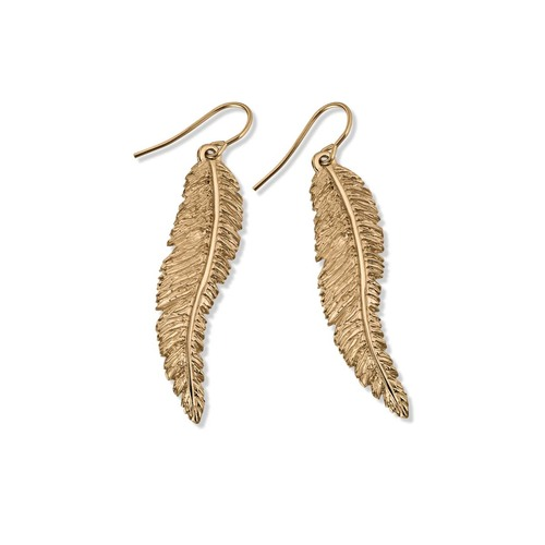 14kt Feather Dangle Earrings with a Southwestern Touch