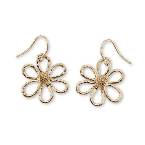 14kt Petite Daisy Earrings with six Petals