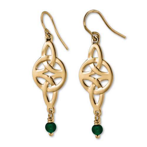 14kt Misty Isle Earrings with celtic Knot