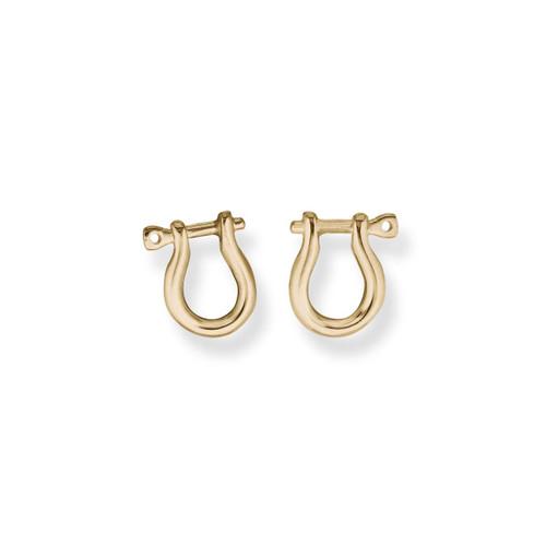 14kt Shackle Earrings