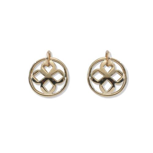 14kt Persian Lace Round Drop Earrings