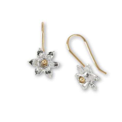 Sterling & 14k Daffodil Earrings