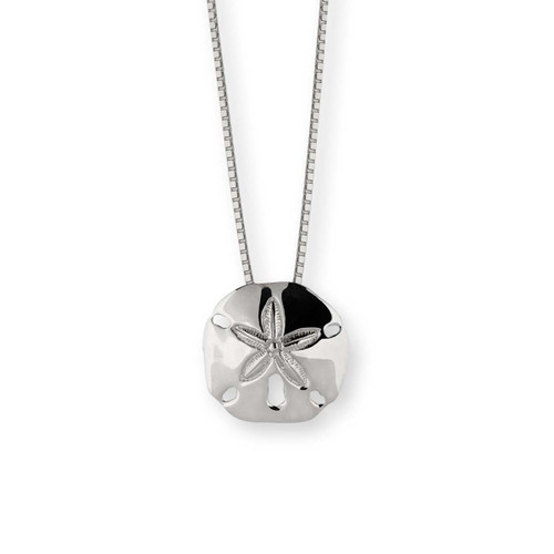 lovely Sterling Silver Sand Dollar Pendant