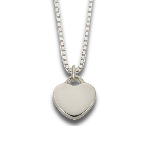 Sterling Silver Plain Candy Heart Pendant