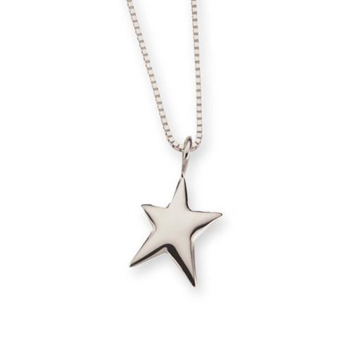 Elegant Sterling Silver Shining Star Pendant