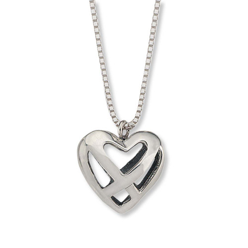 Beautiful Sterling Silver Celtic Heart Pendant