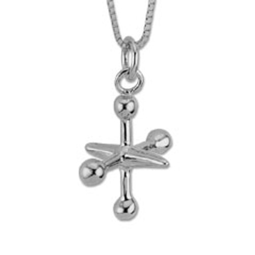 Sterling Silver Childhood Special Jacks Pendant