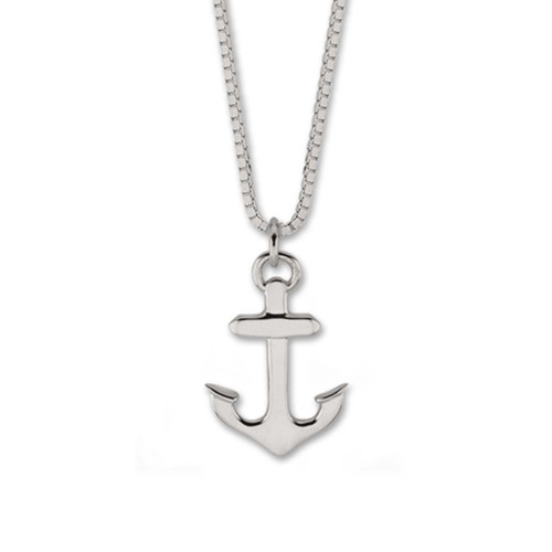 Sterling Silver Small Handcrafted Anchor Pendant