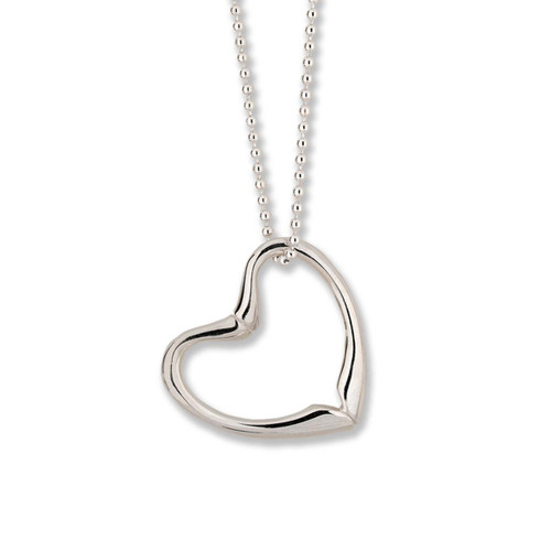 Sterling Silver Double Sided Joan's Heart Pendant