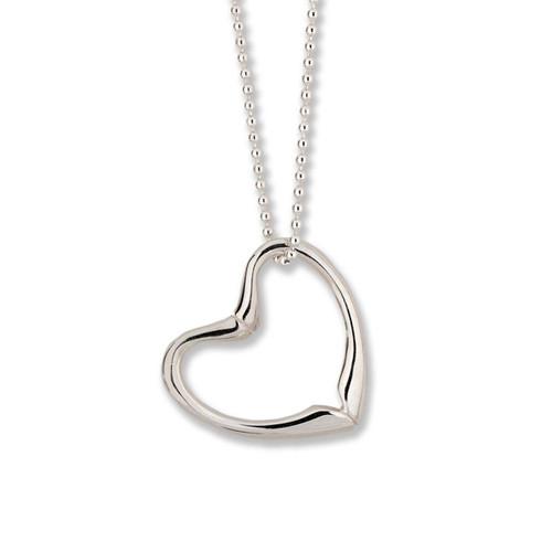 Sterling Silver Double Sided Joan's Heart Pendant