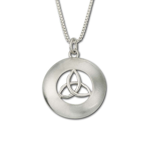 Stylish Sterling Silver Erin Pendant