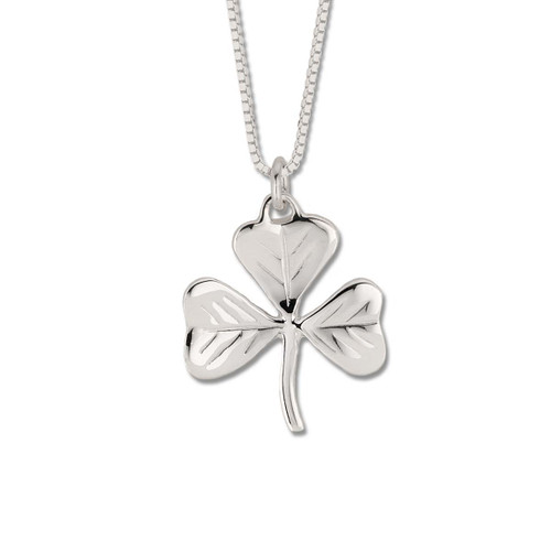 Sterling Silver Little Shamrock Good Luck Pendant