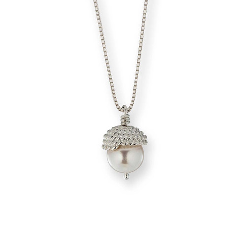 Sterling Silver Enduring Grace Pendant with freshwater Pearl