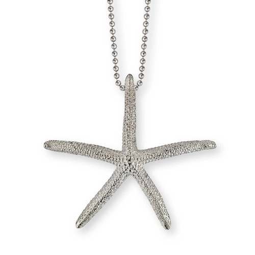 Sterling Silver Finger Starfish Pendant