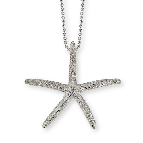 Sterling Silver Finger Starfish Pendant