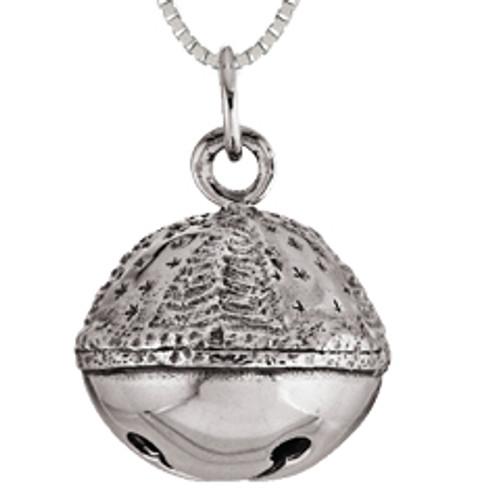 Sterling Silver Ringing Sleigh Bell Pendant