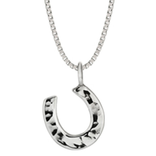 Sterling Silver Horseshoe Good luck Pendant