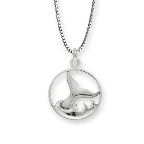 Sterling Silver Whale Watch Pendant