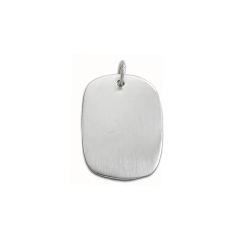 Sterling Silver Large Oval Pendant brushed finish