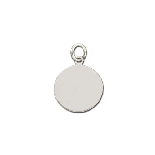 personalised Sterling Silver Round Plaque Pendant