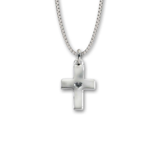 Sterling Silver Mini Hammered Cross