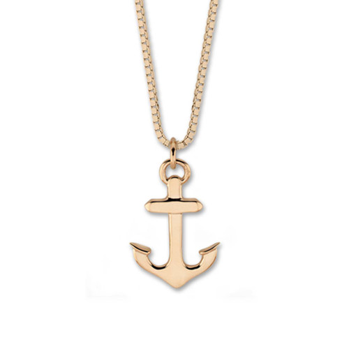 Small 14kt Gold Anchor Pendant