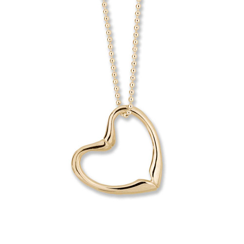 Elegant and Simple 14kt Joan's Heart Pendant