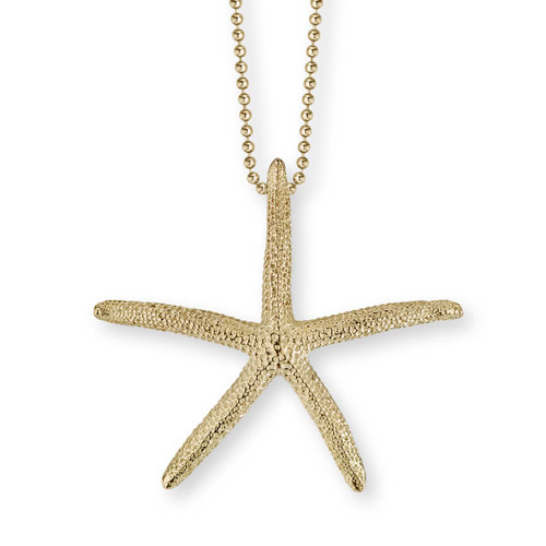 14kt Gold Finger Starfish Pendant