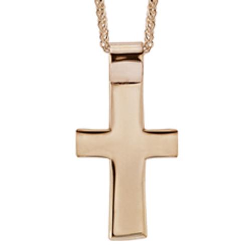 14kt Men's Cross Pendant with Strong Built in Bails