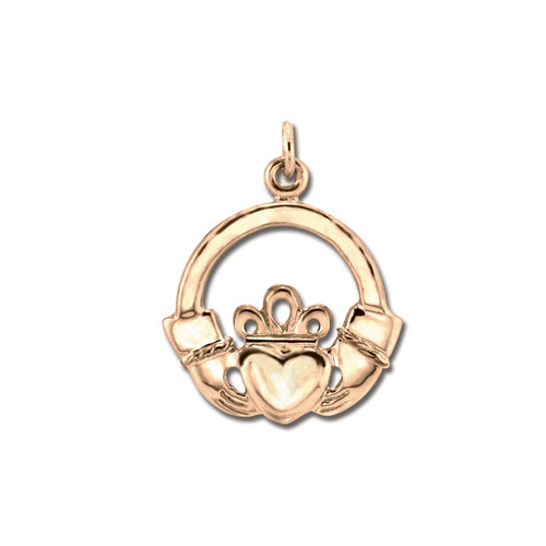 14kt Gold Claddagh Pendant with Acient Design