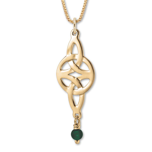 14kt Gold Misty Isle Green Pendant