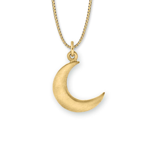 14kt Gold Crescent Moon Pendant