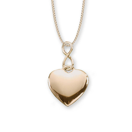 best sterling 14kt Gold Infinity Heart Pendant
